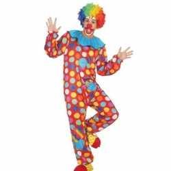 Clownpak verkleed pak/kostuum heren