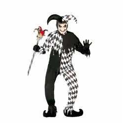 Halloween horror harlekijn kostuum heren