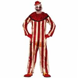 Horror clownpak billy verkleed kostuum rood/wit heren