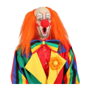 Horror clownpak billy verkleed kostuum rood wit heren
